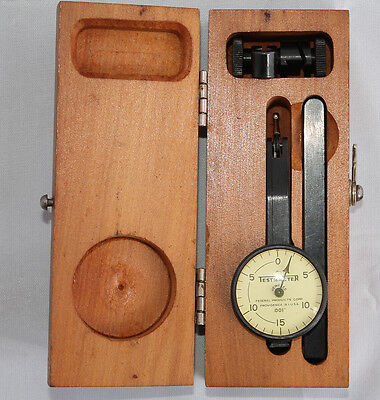 "Federal .001"" Jeweled Testmaster Test Indicator Model M-1 In Wooden Box"