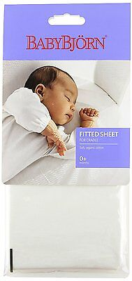BABYBJORN Fitted Sheet for Cradle - Organic White