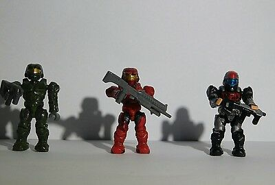 Halo mega bloks spartan figurines with weapons
