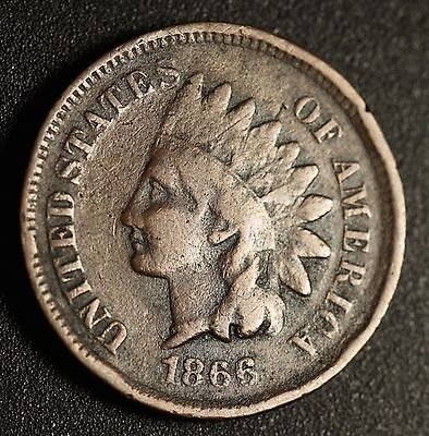 1866 INDIAN HEAD CENT -With LIBERTY - FINE Details