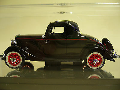 CLASSIC Carlectables: 1933 Ford V8 Coupe: Coach Maroon: 1/43. NIB.