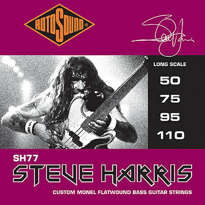 Rotosound Sh77 Steve Harris Signature Custom Flatwound Bass Strings, 50-110