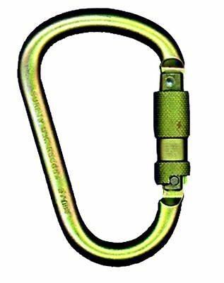 NEW MSA Steel Carabiner with 1-Inch Gate Opening -10096466- Free Shipping
