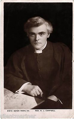 Rev. R. J. Campbell, old RP postcard, posted 1906