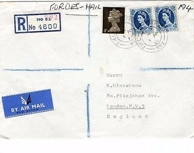 1968 Registered Forces Airmail Cover From Collection B20