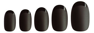 Manicare Glam Almond French Nails Matt Black