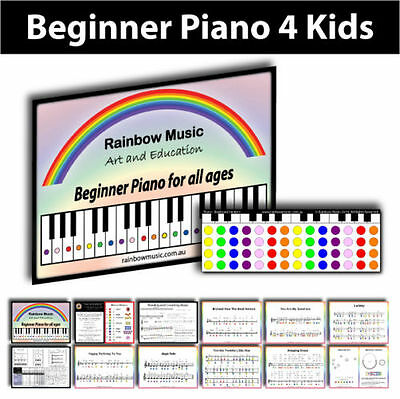 Beginner Piano for Kids and Adults using the colours of the Rainbow