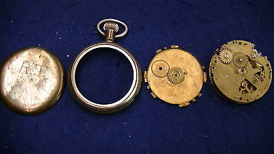Robert H Ingersoll & Brothers Pocket Watch Non Working For Parts Or Repair
