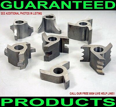 "7Pc Shopsmith 1/2"" Shaper Router Bit Knife Set Tongue Groove Beading Rabbet Ogee"