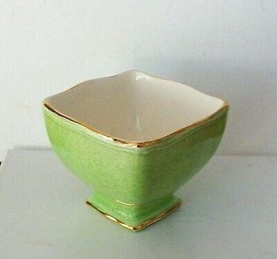 Fine Piece Signed Royal Winton Grimwades Green Pastel Sugar Holder Ascot Shape