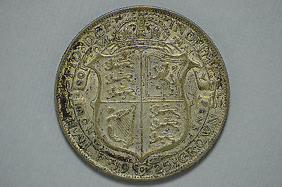 1925 Great Britain Half Crown .500 Silver Rare Date (cn1798)