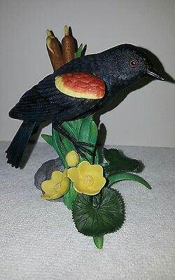 Red Winged Blackbird Lenox Porcelain Bird Edition - Perfect condition