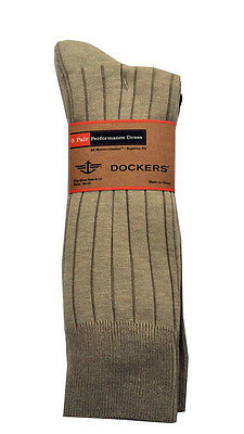 DOCKERS Men's Classic Crew Dress Casual Socks 5-Pack  Fit shoe size 8-12   NEW