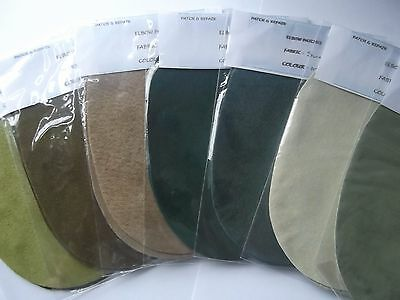 100% Suede  Elbow / Knee  Patches / Trimmings In 7 Different Shades Of Green