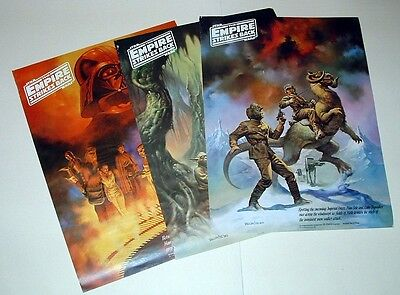 Set Of 3 Star Wars, Empire Strikes Back, Coca Cola Ad Posters - 18X24 - 1980