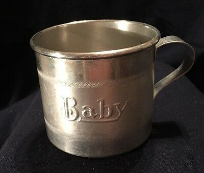 "Vintage Primitive Small Handle Aluminum ""Baby"" Cup Mug"