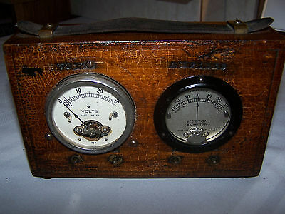 1910's Vintage Early Auto Racing Weston Ammeter 354 & Hoyt Volt Meter A Must See