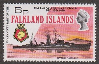 Falkland Islands 1974 Battle of River Plate SG# 308w 6p Wmk Crown to right of CA