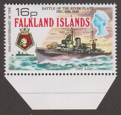 Falkland Islands Battle of R. Plate 1974 SG# 310w 16p Wmk Crown to Right of CA