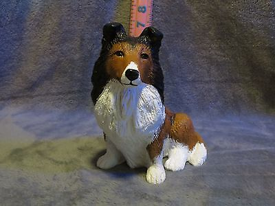 Shetland Sheepdog Plaster Dog Statue Hand Cast And Painted By T.c. Schoch
