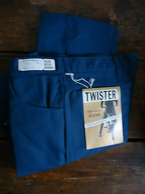 NOS VTG 60s MOD DEADSTOCK TAPERED TWISTER BOYS TEEN JEANS PANTS 28x30 RAB USA