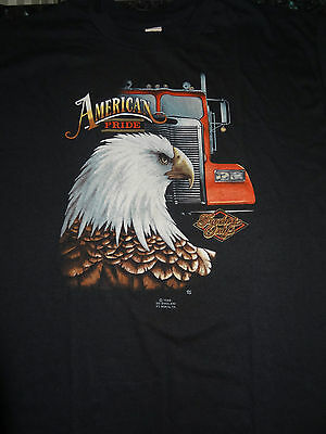 3D Emblem 1986 Truckers Only T Shirt Very Rare Mint Vintage Biker Harley