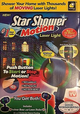 new star shower motion outdoor laser christmas lights projector as seen on tv