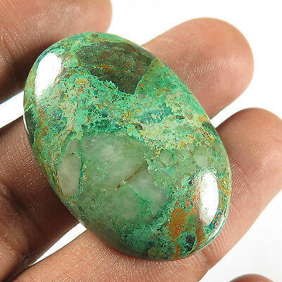 Natural 38x26 mm AZURITE MALACHITE Oval Cabochon Gemstone 51.40 Cts For Necklace
