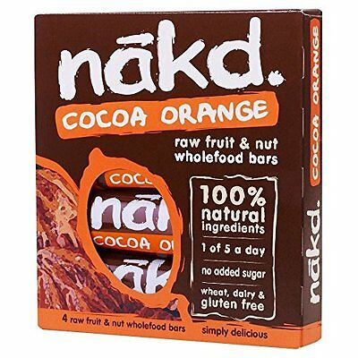 Nakd Cocoa Orange Bars (4x35g)
