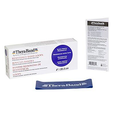 Thera-Band Extra Heavy Resistance Band, Blue, 8-Inch
