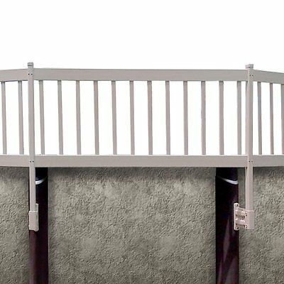 Blue Wave NE1333 Above Ground Pool Fence Kit, 2 Sections, Taupe
