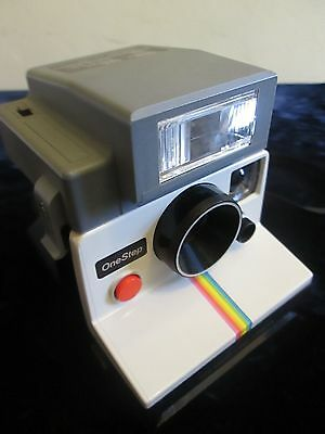 Vintage Polaroid SX-70 One Step Rainbow Stripe Instant Land Camera with Flash
