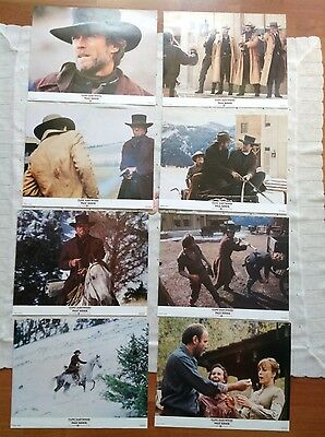 Pale Rider  - complete set of 8 lobby cards - Clint Eastwood