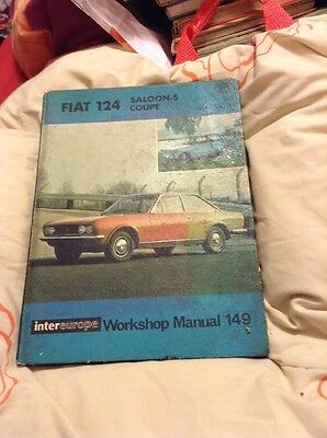 FIAT 124 saloon and coupe  Intereurope WORKSHOP MANUAL From 1966