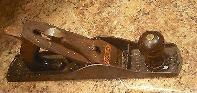 Vintage Stanley Bailey Sweet Heart No.5 Woodworking Plane Corrugated Bottom