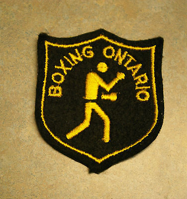 """Vintage 'boxing Ontario' 3.5"""" Patch"""