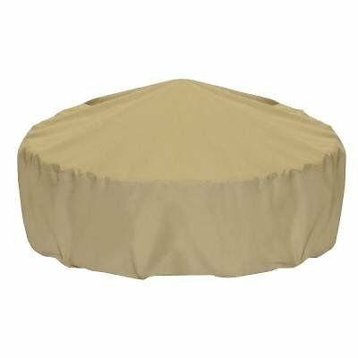 Two Dogs Designs Fire Pit Cover, 60-Inch, khaki
