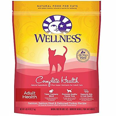 Wellness Complete Health Natural Dry Cat Food, Salmon and Deboned Turkey Re