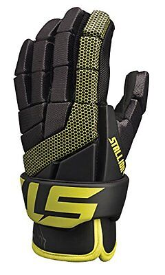 STX Lacrosse Stallion 100 Gloves, Black/Yellow, Large/13-Inch