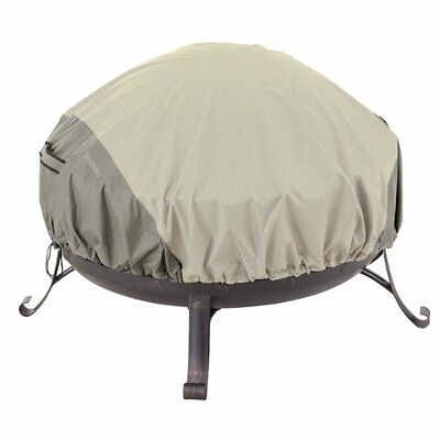 Classic Accessories 55-261-011001-00 Belltown Outdoor Fire Pit Cover, Grey,