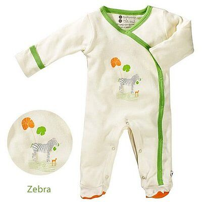 Babysoy Unisex Baby Oh Soy Footie - Zebra - 0-3 Months