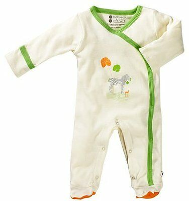 Babysoy Unisex Baby Oh Soy Footie - Zebra - 3-6 Months