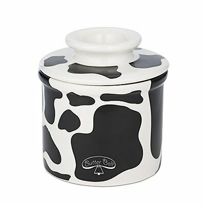 Butter Bell crock by L Tremain Butter Crock, Cow Pattern, Black and White