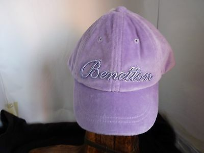 United Colors Of Benetton Girls Purple Cap With Visor Size M Age 7-8