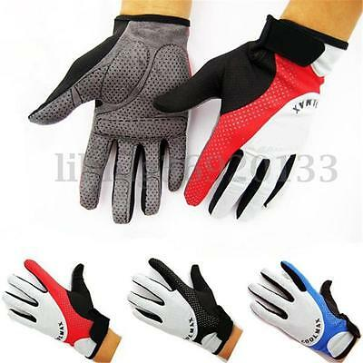 Cycling Bike Bicycle MTB Motorcycle Racing Riding Sports Full Finger Gel Gloves