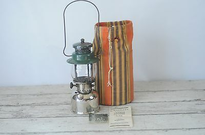 Vintage Green and Silver Coleman Camping Lantern No. 242B 10/1938? With Bag