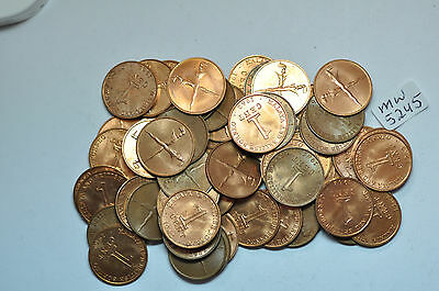 mw5245 Malaya & British Borneo; lot of 50 Coins: Cent 1962   UNC