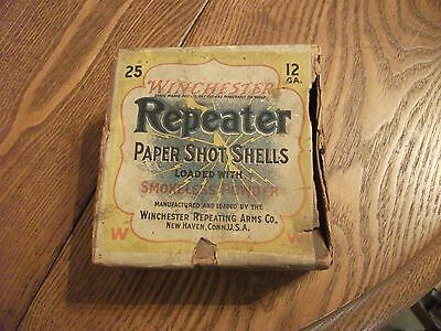 """SEE! Collectible Vintage """"WINCHESTER REPEATER"""" Empty 12 GA. Shell Box"""