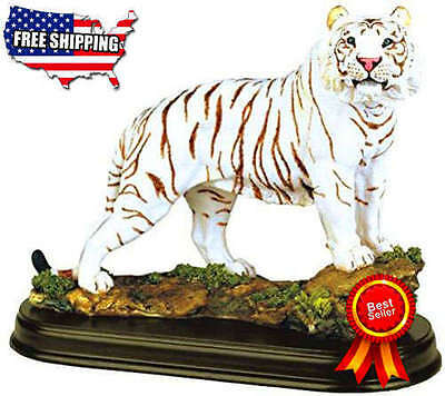 StealStreet SS-G-19718 White Tiger Collectible Wild Cat Animal Decor Figurie New