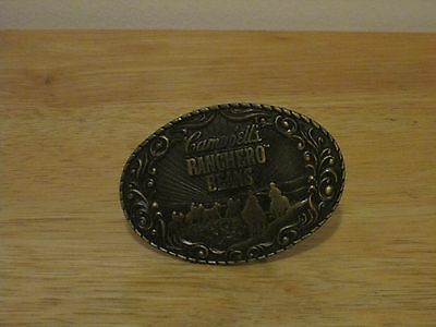 Campbell's Ranchero Beans Brass Belt Buckle